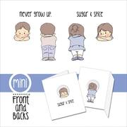 "Art Impressions Front-N-Backs 7"" x 4"" Cling Rubber Stamp, Boy & Girl"