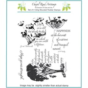 """Chapel Road 5 3/4"""" x 6 3/4"""" Cling Mounted Rubber Stamp Set, Picture Poems"""