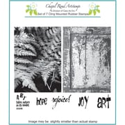"""Chapel Road 5 3/4"""" x 7 3/4"""" Cling Mounted Rubber Stamp Set, ATC Ferns"""