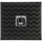 "Pioneer™ 12"" x 12"" Embossed Postbound Scrapbook Album, Black Chevron"