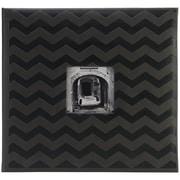 "Pioneer™ 12"" x 12"" Embossed Postbound Scrapbook Album, Black Chevron"