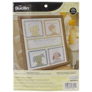 "Bucilla® Here-A-Hug Birth Record Counted Cross Stitch Kit, 10"" x 13"", 14/Pack"