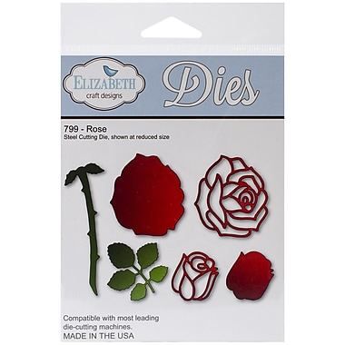 Elizabeth Craft Designs Die Set, Rose