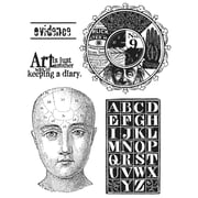 """Tim Holtz® Stampers Anonymous 7 """" x 8 1/2"""" Cling Rubber Stamp Set, Classics #11"""