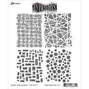 "Tim Holtz® Ranger 8 1/2"" x 7"" Dylusions Cling Rubber Stamp Collections, Graphic Backgrounds"