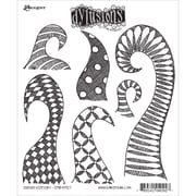 "Tim Holtz® Ranger 8 1/2"" x 7"" Dylusions Cling Rubber Stamp Collections, Doodle Delight"