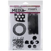 "Tim Holtz® Ranger 6"" x 9"" Media Cling Rubber Stamp, Textures"