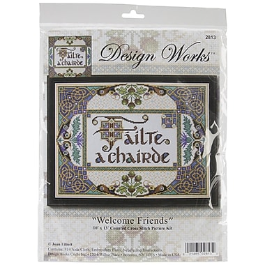 Tobin Welcome Friends Counted Cross Stitch Kit, 10