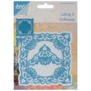 "Ecstasy Crafts Joy! Crafts 4"" x 4"" Cut & Emboss Die, Ornate Square Frame & Delicate Corners"