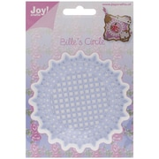 """Ecstasy Crafts Joy! Crafts 4"""" x 4"""" Cut & Emboss Die, French Lily Circle"""