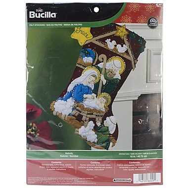 Bucilla® Nativity Stocking Felt Applique Kit, 18