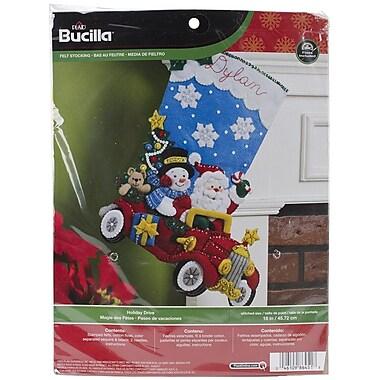 Bucilla® Holiday Drive Stocking Felt Applique Kit, 18