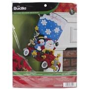 "Bucilla® Holiday Drive Stocking Felt Applique Kit, 18"""