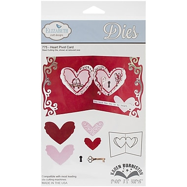 Elizabeth Craft Designs Pop It Up™ Metal Die Set, Heart Pivot Card