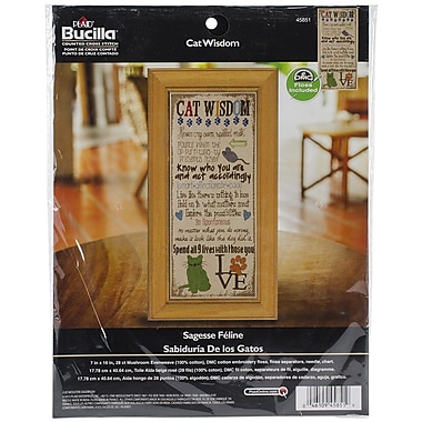 Bucilla® Cat Wisdom Counted Cross Stitch Kit, 7