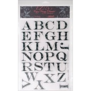 "Kellycraft EZ-De's 8"" x 12"" Clear Stamps Sheet, Flourish 2"" ABC's"
