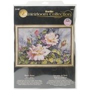 "Bucilla® Heirloom Collection Dana's Roses Counted Cross Stitch Kit, 20"" x 16"""