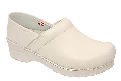 Sanita Footwear Leather Women's Professional Celina Clog White, 6.5 - 7