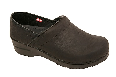 Sanita Footwear Leather Women's Professional Oil Clog Black, 9.5 - 10