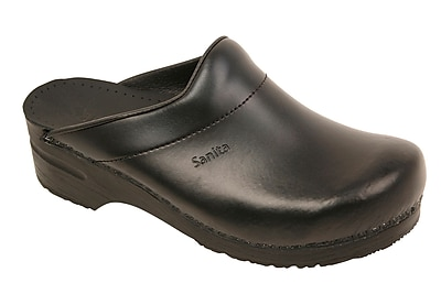 Sanita Footwear Leather Men's Karl Slip On Loafer Black, 13 - 13.5