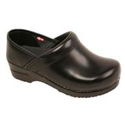 Sanita Footwear Leather Men's Professional Cabrio Clog Black