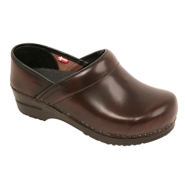 Sanita Footwear Leather Women's Professional Celina Clog Brown, 11.5 - 12
