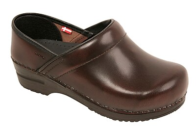 Sanita Footwear Leather Women's Professional Celina Clog Brown, 10.5 - 11