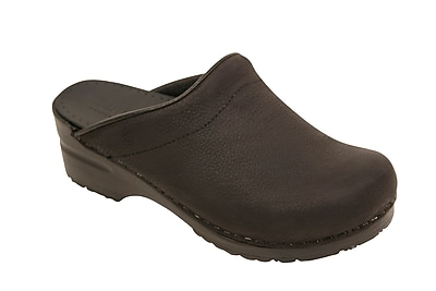 Sanita Footwear Leather Women's Sonja Oil Clog Black, 10.5 - 11
