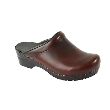 Sanita Footwear Leather Women's Sonja Cabrio Clog Bordeaux, 11.5 - 12