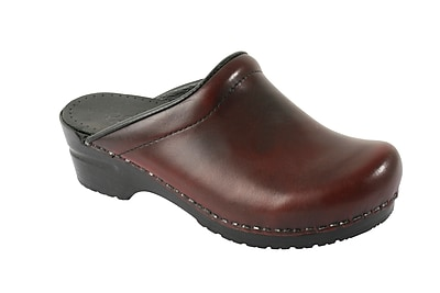 Sanita Footwear Leather Women's Sonja Cabrio Clog Bordeaux, 10.5 - 11