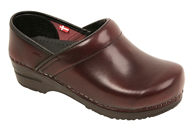 Sanita Footwear Leather Women's Professional Celina Clog, 4.5 - 5