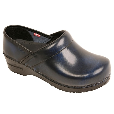 Sanita Footwear Leather Women's Professional Celina Clog Leather Blue, 12