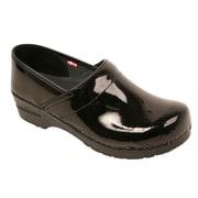 Sanita Footwear Leather Women's Professional San Flex Black Patent