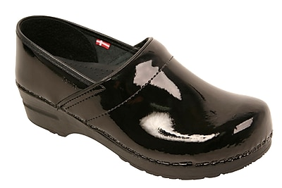 Sanita Footwear Leather Women's Professional San Flex Black Patent, 6.5 - 7