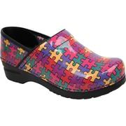 Sanita Footwear Patent Leather Clogs Women's Professional Aspire, 9.5 - 10