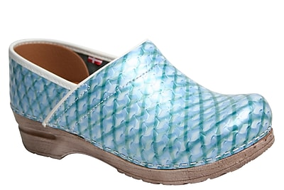 Sanita Footwear Leather Women's Professional Dory Mule Light Blue 40