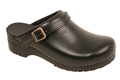 Sanita Footwear Leather Women's Ingrid Clog Black, 10.5 - 11