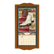 "LANG® 8 3/4"" x 17 3/4"" Vertical Wall Calendar Frame, Small, Saddle"