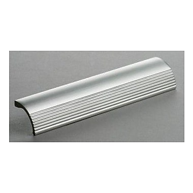 Omnia Stainless Steel Cabinet 6'' Center Finger Pull; Satin Stainless Steel