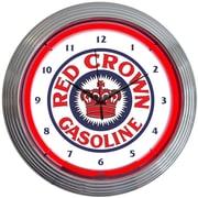 Neonetics Crown 15'' Gasoline Neon Wall Clock