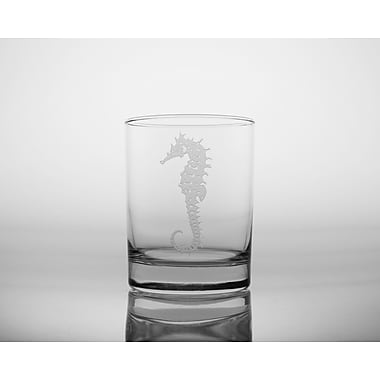 Rolf Glass Seahorse 14 Oz Double Old Fashioned Glass (Set of 4)