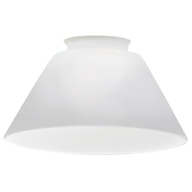 Lithonia Lighting 5.58'' Glass Empire Pendant Shade; Opal White