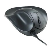 Hippus HandShoeMouse Left-Handed Large Wired Ergonomic Mouse, Black
