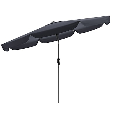 CorLiving™ 3m Octagonal Patio Umbrella With Air Vents, Black Polyester