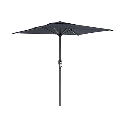 CorLiving™ 2m Square Patio Umbrella With Air Vents, Black Polyester