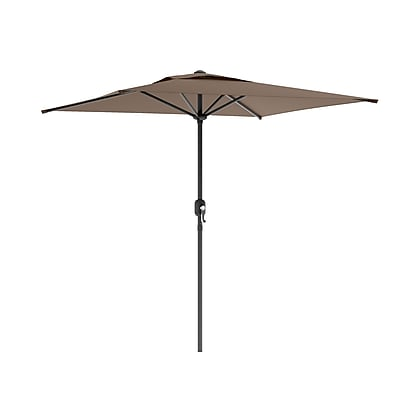 CorLiving™ 2m Square Patio Umbrella With Air Vents, Sandy Brown Polyester