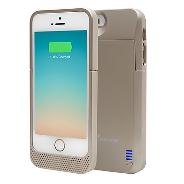 LifeCharge Apple iPhone 5/5s Battery Case, Gold