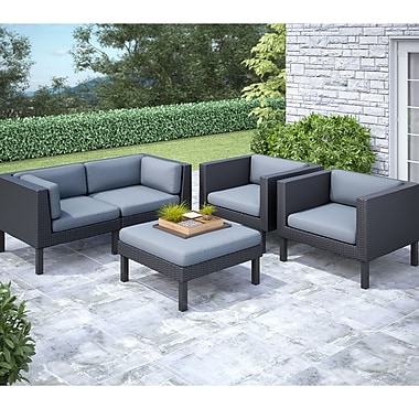 Corliving Oakland 5 Piece Sofa And Chair Patio Set
