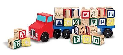 Melissa & Doug Alphabet Truck Wood