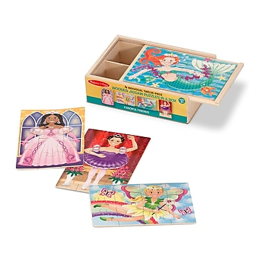 Melissa & Doug Sturdy Wooden Fanciful Friends Puzzles